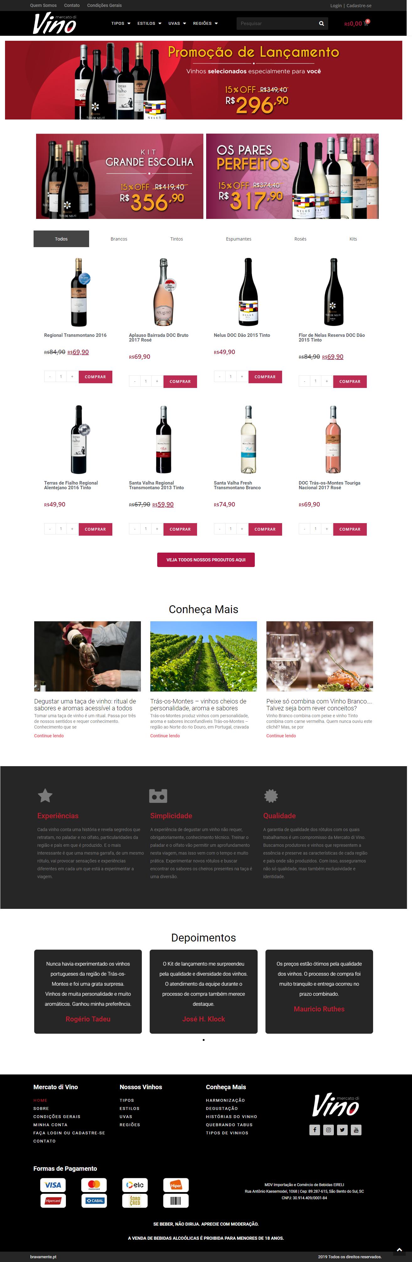 WebSite Mercato di Vino